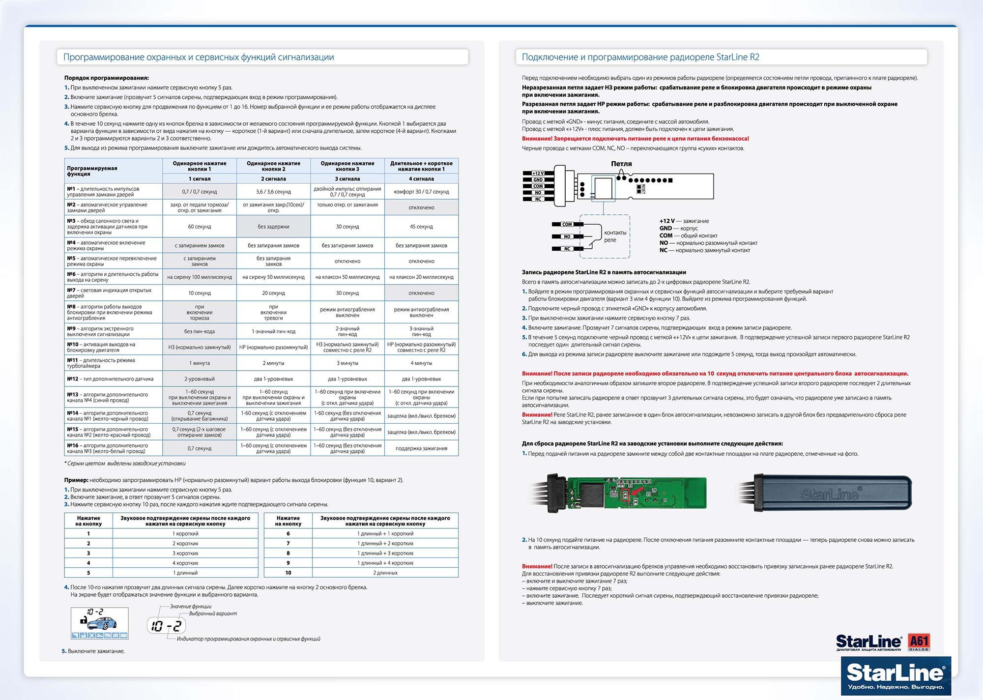 автосигнализация starline a93 инструкция по применению